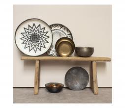 Afbeelding van product: Selected by Tampah schaal M raffia zwart/wit