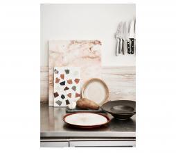 Afbeelding van product: HKliving Home chef pastabord Ø28 cm porselein rustiek zwart