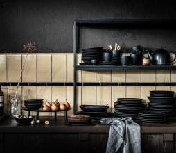 Afbeelding van product: vtwonen servies: bord div. afmetingen porselein mat zwart ø20 cm