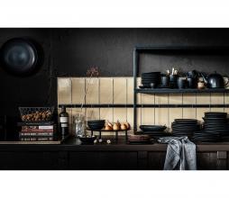 Afbeelding van product: vtwonen servies: bord div. afmetingen porselein mat zwart ø18 cm