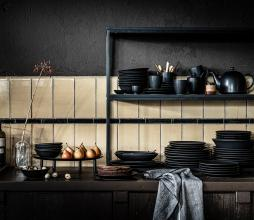 Afbeelding van product: vtwonen servies: ovaal bord porselein 30 cm mat zwart