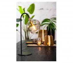 Afbeelding van product: Selected by Rakel tafellamp glas/metaal zwart/antique brass