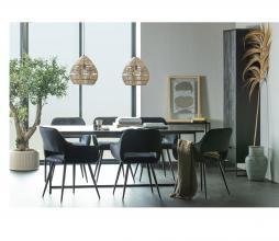 Afbeelding van product: WOOOD Exclusive James eettafel met u-poot 200x90 cm essen/metaal zwart