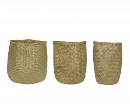 Afbeelding van product: Selected by set van 3 opbergmanden Ø40 cm zeegras naturel