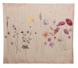 Afbeelding van product: Selected by Antique Flower doek 146x124 cm papier antiek finish