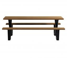 Afbeelding van product: WOOOD Tablo X-poot picknick outdoor metaal zwart