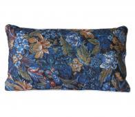 HKliving Doris kussen printed 35x60 cm blauw