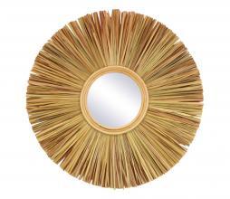 Afbeelding van product: Selected by Sunrise spiegel div. afmetingen raffia M - Ø60 cm