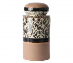 Afbeelding van product: HKliving 70's Tropical voorraadpot keramiek bruin/zwart