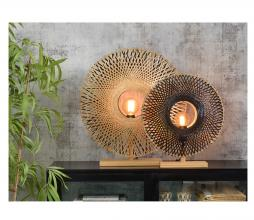 Afbeelding van product: Selected by Kalimantan tafellamp Ø 60 cm bamboe naturel/zwart