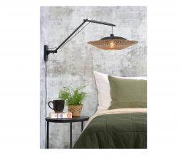Afbeelding van product: Selected by Kalimantan wandlamp aan arm bamboe zwart/naturel