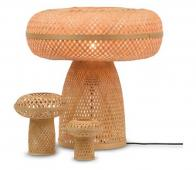 Selected by Palawan tafellamp set van 3 bamboe naturel