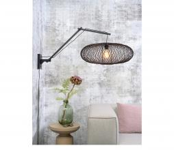 Afbeelding van product: Selected by Cango wandlamp aan arm L bamboe zwart