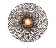 Selected by Cango wandlamp eclipse bamboe zwart