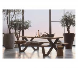 Afbeelding van product: WOOOD Tablo outdoor picknicktafel naturel met x-poot metaal