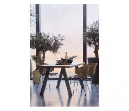 Afbeelding van product: WOOOD Tablo eettafel outdoor naturel met A-poot metaal