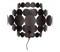 WOOOD Exclusive Kaki wandlamp metaal zwart