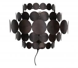 Afbeelding van product: WOOOD Exclusive Kaki wandlamp metaal zwart