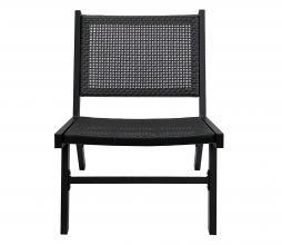 Afbeelding van product: WOOOD Puk fauteuil (binnen- buiten) aluminium zwart