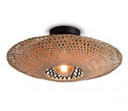 Afbeelding van product: Selected by Kalimantan plafondlamp div. afmeting bamboe naturel/zwart S -  H12 x Ø44 cm