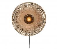 Selected by Kalimantan wandlamp div. afmetingen bamboe naturel S - H12 x  Ø44 cm