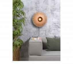 Afbeelding van product: Selected by Kalimantan wandlamp div. afmetingen bamboe naturel S - H12 x  Ø44 cm