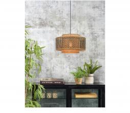 Afbeelding van product: Selected by Buhtan hanglamp div. afmetingen bamboe naturel/zwart L - H30 x Ø50 cm