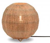 Selected by Iguazu bol tafellamp div. afmetingen jute naturel S - H38x Ø27cm