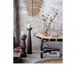 Afbeelding van product: Selected by Loue bankje rotan naturel/zwart