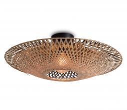 Afbeelding van product: Selected by Kalimantan plafondlamp div. afmeting bamboe naturel/zwart L - H20 x Ø87 cm