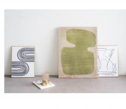 Afbeelding van product: Selected by Aesthetic wanddeco lines 40x30 cm wit/zwart