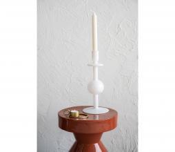 Afbeelding van product: Selected by Bulb kandelaar 30 cm gerecycled glas wit