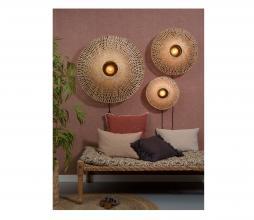 Afbeelding van product: Selected by Kalimantan wandlamp div. afmetingen bamboe naturel L - H21 x  Ø87 cm