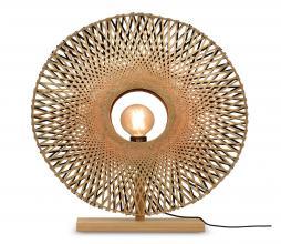 Afbeelding van product: Selected by Kalimantan tafellamp div. afmetingen bamboe naturel/zwart S -  Ø44 cm
