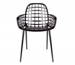 Afbeelding van product: Zuiver Albert Kuip tuinstoel (binnen-buiten) zwart aluminium