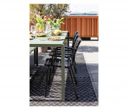 Afbeelding van product: Zuiver Vondel tuinstoel met armleuning (binnen-buiten) zwart aluminium