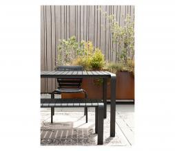 Afbeelding van product: Zuiver Vondel buitenbankje div. afmetingen metaal zwart L - 129,5 cm (2 personen)