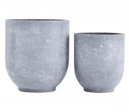 Afbeelding van product: Housedoctor Gard plantenbak set van 2 (binnen-buiten) grijs