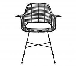 Afbeelding van product: HKliving Tub stoel (binnen-buiten) rotanlook zwart