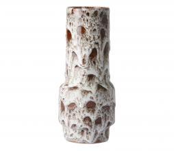 Afbeelding van product: HKliving Lava vaas Ø8,5 cmkeramiek wit/bruin