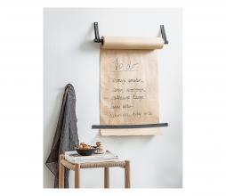 Afbeelding van product: vtwonen wandrolhouder incl. papier metaal zwart