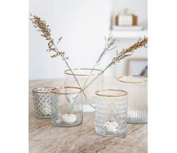 Afbeelding van product: vtwonen decoratie glas waxinelichthouder, div afm. ø 7,5 x h 12 cm