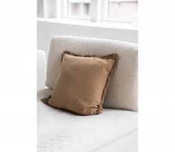 Afbeelding van product: Zusss kussen met franjes 45x45 cm khaki