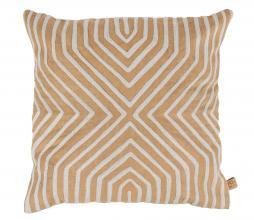 Afbeelding van product: Zusss kussen grafisch patroon 45x45 cm katoen khaki