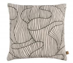 Afbeelding van product: Zusss kussen koraalriff patroon 45x45 cm katoen peper en zout