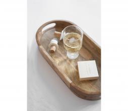 Afbeelding van product: Zusss ovaal dienblad 40 cm mangohout bruin