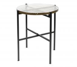 Afbeelding van product: Dutchbone Vidrio sidetable Ø40 cm metaal/glas zwart