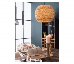 Afbeelding van product: Dutchbone Nana hanglamp gevlochten bananenblad bruin