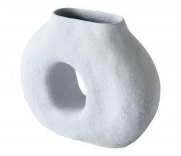 Afbeelding van product: HKliving Organic cirkel vaas aardewerk lichtblauw