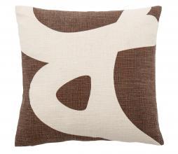 Afbeelding van product: Selected by Ebrar kussen 40x40 cm bruin/wit